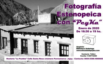 Taller de estenopeica en Purmamarca, Jujuy